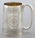 Silver Holloware, British:Holloware, A CASED THOMAS SMILY VICTORIAN SILVER AND SILVER GILT MUG . ThomasSmily, London, England, 1873-1874. Marks: (lion passant),...