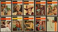 Non-Sport Cards:Sets, 1958 Topps T.V. Westerns Near Set (63/73). ...