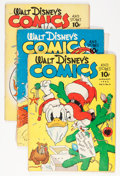 Golden Age (1938-1955):Cartoon Character, Walt Disney's Comics and Stories Group (Dell, 1942-43) Condition:Average FR/GD.... (Total: 5 Comic Books)