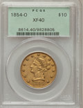 Liberty Eagles, 1854-O $10 Large Date XF40 PCGS. Variety 3....