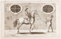 Books:Prints & Leaves, [Horses]. George Simon Winter. [Leaf from Bellerophon].[Nuremberg: Endter, 1678]. One printed leaf from the fir...
