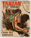 Books:Children's Books, [Big Little Book]. Edgar Rice Burroughs. Tarzan theTerrible. Racine: Whitman, [1942]. Square sixteenmo. 424 pag...