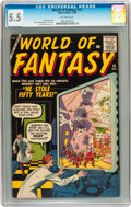 Silver Age (1956-1969):Horror, World of Fantasy #15 (Atlas, 1958) CGC FN- 5.5 Off-white pages....