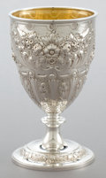 Silver Holloware, British:Holloware, A GOLDSMITHS & SILVERSMITHS CO. VICTORIAN SILVER AND SILVERGILT GOBLET . William Gibson and John Lawrence Langman, London, ...