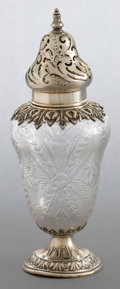 Silver Holloware, American:Other , A DURGIN SILVER AND CUT GLASS SHAKER . Wm. B. Durgin Co., Concord,New Hampshire, circa 1890. Marks: D, STERLING, THEODORE...