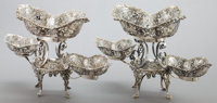 A PAIR OF JAMES DIXON & SONS VICTORIAN SILVER EPERGNES James Dixon & Sons, Sheffield, England, circa 1899-1900
