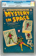 Silver Age (1956-1969):Science Fiction, Mystery in Space #18 Bethlehem pedigree (DC, 1954) CGC VF- 7.5Cream to off-white pages....