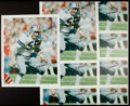 Football Collectibles:Others, Lee Roy Jordan and Eugene Lockhart Signed Canvas Prints Lot of 29. ...