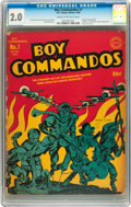 Golden Age (1938-1955):War, Boy Commandos #1 (DC, 1942) CGC GD 2.0 Cream to off-white pages....