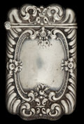 Silver Smalls:Match Safes, AN UNGER BROTHERS SILVER MATCH SAFE . Unger Bros., Newark, NewJersey, circa 1900. Marks: UB (conjoined), STERLING9...