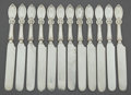 Silver Flatware, American:Wendt , A CASED SET OF TWELVE JOHN WENDT SILVER UNION PATTERNLUNCHEON KNIVES . J.R. Wendt & Co., New York, New York, ci...(Total: 12 Items)