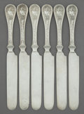 Silver Flatware, American:Wendt , SIX JOHN WENDT SILVER BIRD PATTERN LUNCHEON KNIVES . J.R.Wendt & Co., New York, New York, circa 1865. Marks: ...(Total: 6 Items)
