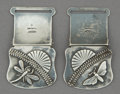 Silver Smalls:Buckles, A PAIR OF SHIEBLER SILVER BELT CLIPS . George W. Shiebler &Co., New York, New York, circa 1880. Marks: (winged S),STER...