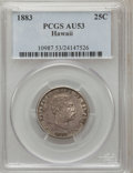 Coins of Hawaii: , 1883 25C Hawaii Quarter AU53 PCGS. PCGS Population (47/1279). NGCCensus: (16/953). Mintage: 500,000. (#10987)...