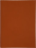 Luxury Accessories:Accessories, Hermes Vache Liegee Terracotta Legal Pad. ...