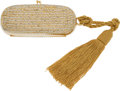 Luxury Accessories:Bags, Judith Leiber Gold & Crystal Early Design Minaudiere EveningBag. ...