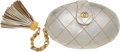 Luxury Accessories:Bags, Chanel Metallic Lambskin Leather Egg Minaudiere Evening Bag withTassel. ...