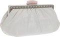 Luxury Accessories:Bags, Judith Leiber White Snakeskin Evening Bag. ... (Total: 2 Items)