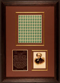 Miscellaneous:Other, John C. Calhoun Framed Display. ...