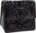 Luxury Accessories:Bags, Judith Leiber Black Embroidered Snakeskin Bag. ... (Total: 2 Items)