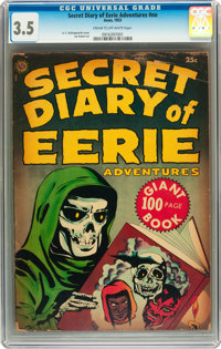 Secret Diary of Eerie Adventures #nn (Avon, 1953) CGC VG- 3.5 Cream to off-white pages