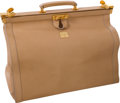 Luxury Accessories:Travel/Trunks, Corneliani Light Beige Leather Travel Bag. ... (Total: 2 Items)