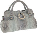 Luxury Accessories:Bags, Giorgio Armani Aqua Python Tote. ... (Total: 2 Items)