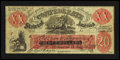 Confederate Notes:1861 Issues, CT-XXI/C1 $20 Female Riding Dear Bogus Note 1861.. ...