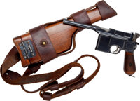 Mauser Model 96 Fixed Sight Cone Hammer Semi-Automatic Pistol with Wood Holster Stock