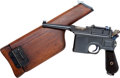 Handguns:Semiautomatic Pistol, Mauser Model 96 Bolo Semi-Automatic Pistol with Matching WoodHolster Stock.. ...