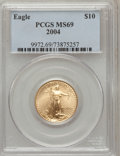 Modern Bullion Coins, 2004 G$10 Quarter-Ounce Gold Eagle MS69 PCGS. PCGS Population(14044/420). NGC Census: (2327/1238). Numismedia Wsl. Price ...