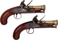 Handguns:Muzzle loading, Pair of English Blunderbuss Flintlock Pistols by Henry Nock, London, 1741-1804.... (Total: 2 Items)