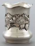Silver Holloware, American:Other , A SHIEBLER SILVER CHRYSANTHEMUM PATTERN TOOTH PICK HOLDER .George W. Shiebler & Co., New York, New York, circa...