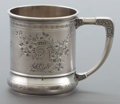Silver Holloware, American:Cups, A WHITING SILVER MUG . Whiting Manufacturing Company, New York, NewYork, circa 1880. Marks: (W with griffin) (effaced), S...