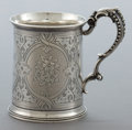 Silver Holloware, British:Holloware, AN EDWARD BROWN VICTORIAN SILVER MUG . Edward Charles Brown forRichards & Brown, London, England, 1868-1869. Marks: (lion p...