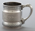 Silver Holloware, American:Cups, A WHITING SILVER MUG . Whiting Manufacturing Company, New York, NewYork, circa 1887. Marks: (W with griffin), STERLING, 3...