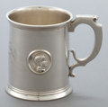 Silver Holloware, American:Cups, AN ALBERT COLES COIN SILVER MEDALLION PATTERN MUG . AlbertColes & Co., New York, New York, circa 1862. Marks: (...