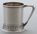 Silver Holloware, American:Cups, AN AMERICAN SILVER MUG . Maker unknown, American, circa 1870.Marks: ENGLISH STERLING, 394. 3-1/2 inches high (8.9 cm)....