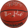 "Basketball Collectibles:Balls, Henry Hill Signed Basketball and Photograph - The Real""Goodfella.""..."