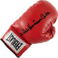 """Boxing Collectibles:Autographs, Rubin """"Hurricane"""" Carter Signed Boxing Glove...."""