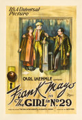 "Movie Posters:Drama, The Girl in No. 29 (Universal, 1920). One Sheet (27"" X 41"").. ..."