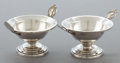 Silver Holloware, American:Open Salts, A PAIR OF WOOD & HUGHES SILVER MEDALLION PATTERN SALTS .Wood & Hughes, New York, New York, circa 1870. Marks:...(Total: 2 Items)