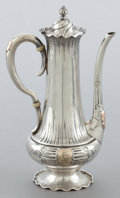 Silver Holloware, American:Tea Pots, A SHIEBLER SILVER AND 14K GOLD HOMERIC PATTERN COFFEE POT .George W. Shiebler & Co., New York, New York, circa ...