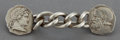 Jewelry, A PARKS BROS. SILVER MEDALLION CORSAGE PIN . Parks Bros. & Rogers, Providence, Rhode Island, circa 1900. Marks: (clover) S...