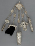 Silver Smalls:Other , A DUTCH SILVER CHATELAINE . Maker unidentified, Netherlands, circa1880. Marks: (lion passant 2), (sword), WI (over)S...
