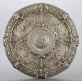 Silver & Vertu:Hollowware, A CONTINENTAL SILVER PLAQUE . Maker unidentified, circa 1900. Marks: JR, 925. 2 x 19 inches diameter (5.1 x 48.3 cm). 10...