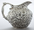 Silver Holloware, American:Pitchers, A WOOD & HUGHES SILVER REPOUSSÉ PATTERN PITCHER . Wood& Hughes, New York, New York, circa 1880. Marks: W&H,S...