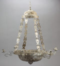 Silver & Vertu:Hollowware, A SPANISH COLONIAL SILVER SIX LIGHT CHANDELIER . Maker unknown, probably Mexico, circa 1900. Unmarked. 30 inches high x 17 i...