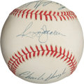 Autographs:Baseballs, Reggie Jackson and 1977 Game Six Home Run Victims SignedBaseball....