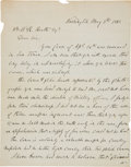 "Autographs:Military Figures, Joseph E. Johnston Autograph Letter Signed ""J. E. Johnston.""..."